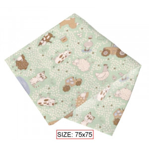 Medvilninė antklodė kūdikiams HAPPY FARM 75x75 cm