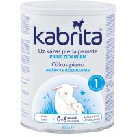 Kabrita 1 400 g dirbtiniai sausas pieno mišinys iš ožkos pieno pagrindo, skirtas patogiam virškinimui 0–6 mėnesių vaikams 400g