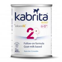 Kabrita Gold 2 400 g tolimesnis dirbtinis sausas mišinys iš ožkos pieno pagrindu, skirtas patogiam virškinimui nuo 6–12 mėnesių vaikams 400g