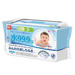IPLUS 99,9% drėgnos servetėlės kūdikiams su hialurono rūgštimi 240vnt (3x80)