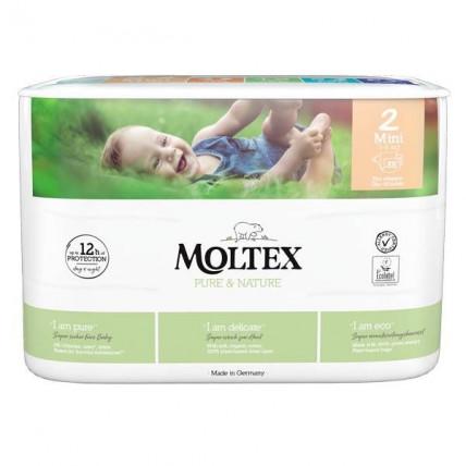 Sauskelnės Moltex Pure & Nature 2 Mini 3-6kg 38vnt