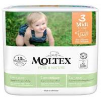 Sauskelnės Moltex Pure & Nature 3 Midi 4-9kg 33vnt
