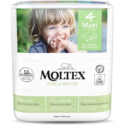Sauskelnės Moltex Pure & Nature 4 Maxi 7-18kg 29vnt