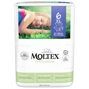 Sauskelnės Moltex Pure & Nature 6 XL 16-30kg 21vnt