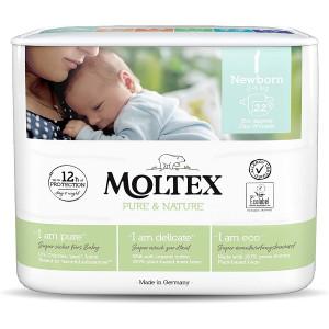 Sauskelnės Moltex Pure & Nature NB 2-4kg 22vnt