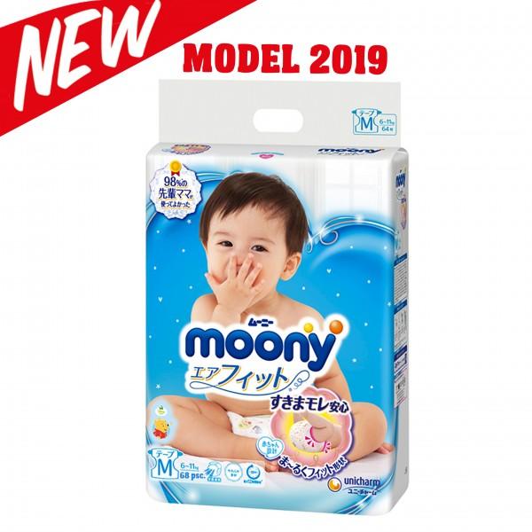 Sauskelnės Moony M 6-11 kg, 2019 metų modelis