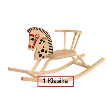 Troja Medinis supamas arkliukas Klasika